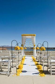 Outdoor rooftop wedding