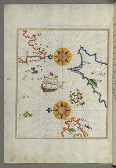 The island of Cos (Stancho, İstanköy) facing the Anatolian mainland from Book on Navigation
