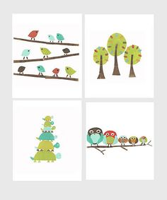 Look at this Fresh Words Market Nature Print Set on #zulily today!