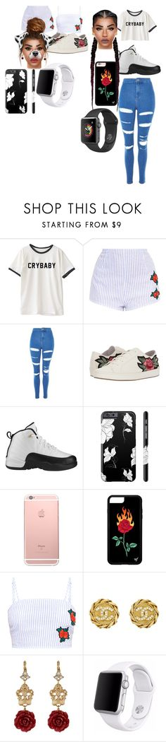 """sister day"" by mtailar on Polyvore featuring Topshop, Joie, Retrò, Chanel, Dolce&Gabbana and Apple"