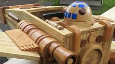 This Exquisite Wooden X-wing Rocker Will Make You Miss Being a Kid
