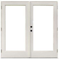 71-1/4 in. x 79-1/2 in. Fiberglass White Right-Hand Outswing Hinged Patio Door