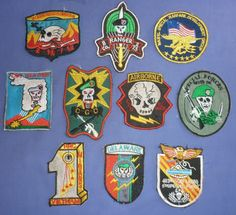 G.609 - LOT OF 10 VIETNAM WAR PATCH, PATCHES, SPECIAL FORCES, RANGER, SNIPER SOG