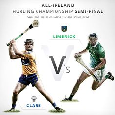 All-Ireland Hurling Championship Clare V Limerick Croke Park, Hurley, Murals, Ireland, Irish, Daddy, Posters, Rooms, Graphics