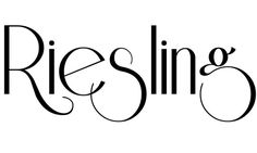Retro fonts: Riesling