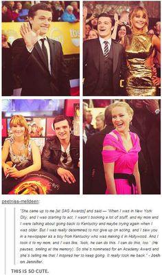 Josh Hutcherson and Jennifer Lawrence
