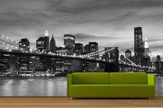 Walk Along New York\'s Brooklyn Bridge Wallpaper Mural   Bridge ...