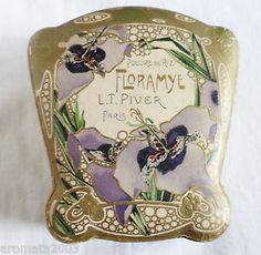 "1900s Rare ""Floramye"" LT Piver Face Powder Cardboard Box Boîte À Poudre | eBay"