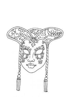 m and m coloring pages | Coloring Carnival mask - Coloring pages