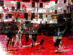 'Crossing the piazza' von Gabi Hampe bei artflakes.com als Poster oder Kunstdruck $18.03