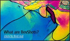 BevShots. Artistic prints of alcohol under a microscope. Freakin' awesome. Vodka is really pretty ;)