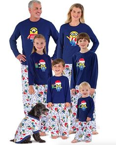 We've put together a list of matching family Christmas pajamas that everyone will love. From snowmen to Santa Pajamas, we've got you covered! Family Holiday Pajamas, Family Pjs, Matching Family Christmas Pajamas, Family Outfits, Cozy Pajamas, Satin Pyjama Set, Pajama Set, Pajamas For Teens, Cool Ideas