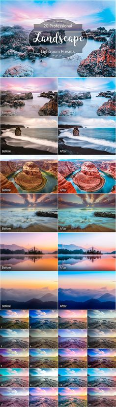 Landscape Lightroom Presets by FaeryDesign You will get 20 Lightroom presets compatible with versions 4, 5, 6, CC. They can be easily adjusted to fit your image. The presets
