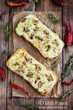 sandwiches with cheese and mushrooms Retro Recipes, My Recipes, Whole Food Recipes, Favorite Recipes, Vegetarian Appetizers, Appetizer Salads, Vegetarian Recipes, Easy Sandwich Recipes, Soup And Sandwich