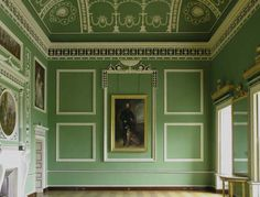 Headfort House - Eating Parlour, designed by Robert Adam.- this shade of green OMG Georgian Architecture, Classical Architecture, Architecture Plan, Interior Architecture, Interior And Exterior, Robert Adam Architect, Neoclassical Interior, Georgian Interiors, Country House Interior