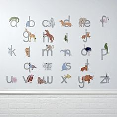 ABC Animals Decal   The Land of Nod