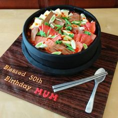 Kimchi jjigae bowl cake by Michelle Chan