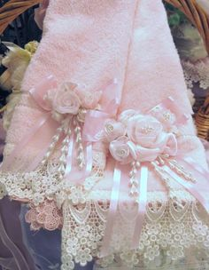 Image detail for -... Pink Rose Guest Towel Victorian Cottage-Victorian, towel, pink, roses