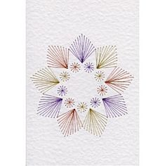 This delightful abstract star design from Stitching Cards would make suitable cards for both men and women for many occasions.