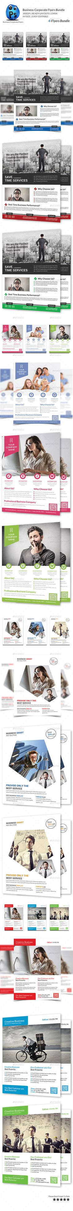 Corporate Business 4 Flyer Bundle - Corporate Flyer Template PSD. Download here: http://graphicriver.net/item/corporate-business-4-flyer-bundle/10191804?s_rank=1792&ref=yinkira