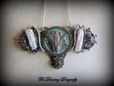 Gorgeous Lotus Flower Art Deco Collage by dragonflysublime on Etsy, $48.00