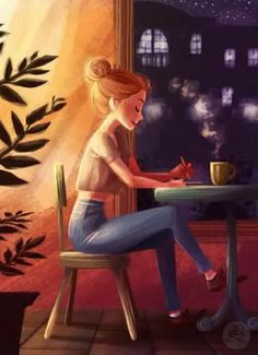 Image about girl in Illustration by Bianca Madalina Girly Drawings, Art Drawings Sketches, Art And Illustration, Digital Art Girl, Cartoon Art Styles, Anime Art Girl, Aesthetic Art, Cute Art, Character Art
