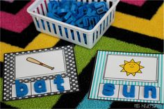 Miss Kindergarten: Super CVC Practice! I pinned this for the magnetic letter idea