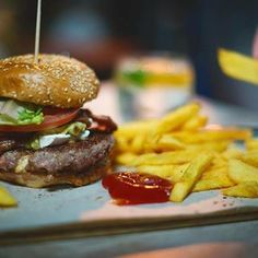 When was the last time you treated yourself to a full on burger, chips and onion rings feast? Stop by this weekend to tuck in! No cutlery required. The Last Time, Onion Rings, Treat Yourself, Cutlery, Hamburger, Fries, Treats, Ethnic Recipes, Food