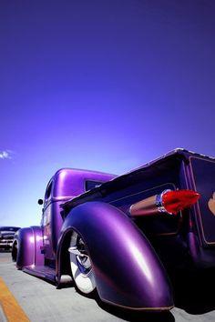 Purple Love, All Things Purple, Purple Rain, Shades Of Purple, Purple Stuff, Hot Rod Trucks, Cool Trucks, Big Trucks, Pickup Trucks