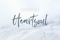 Heartsoul Font by Graphic Box on @creativemarket