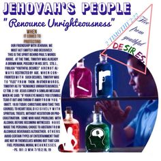 """JEHOVAH's PEOPLE RENOUNCE UNRIGHTEOUSNESS: """"Flee from youthful desires."""" - 2Timothy 2:22."""