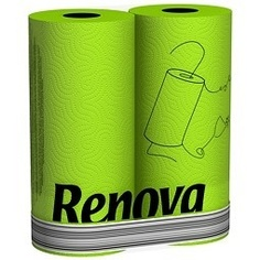 Green Paper Towel by Renova, 2 Roll Pack