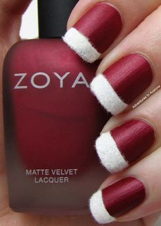 Christmas Nail Art Design Ideas 2013-2014 I love the red - no white for the wedding