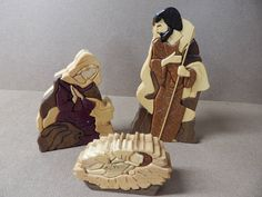 Nativity Scene, Wood Intarsia Handcrafted Scroll Saw Art by FROGIntarsia on Etsy https://www.etsy.com/au/listing/262849804/nativity-scene-wood-intarsia-handcrafted