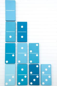 Go get some fresh air and play a game of lawn dominoes! To make a set of 1 Quart each (Premium Collection Exterior Paint, Flat) Glidden Paint Peacock Blue Glidden Paint Hawaiian Teal & Glid… Diy Yard Games, Lawn Games, Diy Games, Backyard Games, Outside Games, Idee Diy, Kids Wood, Camping, Outdoor Fun