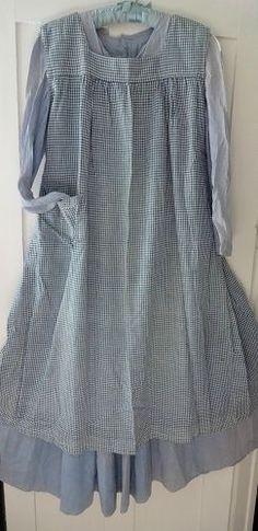 Antique prairie dress and pinafore....