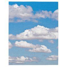 Nubes en cielo azul rompecabezas con fotos