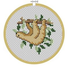 Sloth, PDF Cross Stitch Patterns - Instant Download