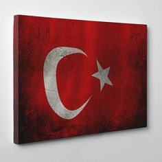 Türk Bayrağı Kanvas Tablo www.tabloshop.com/ataturk-tablolari/turk-bayragi-kanvas-tablo-p-7.html