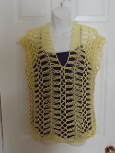 Crochet Hairpin lace Summer Blouse