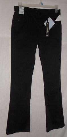 New Womens Size 10 Black Jeans Pants Mid Rise Skinny Comfort Waist by Supplies #Supplies #SlimSkinny
