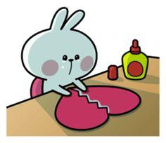 A lot of affection of Spoiled Rabbit. Cute Love Memes, Cute Love Gif, Cute Love Pictures, Cute Bunny Cartoon, Cute Cartoon Images, Cute Cartoon Wallpapers, Memes Lindos, Cute Bear Drawings, Chibi Cat