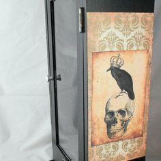 Gothic Home Decor  Gothic Curio Cabinet  Skull by NacreousAlchemy