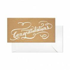 グリーティングカード専門店    シュガーペーパー/シングルカード/Congratulations, Kraft    Paper Tree