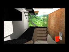 criação de projeto 3d do cafe para painel adesivo
