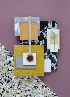 Future - Material Mood Board inspiration using Recycled & Sustainable Samples