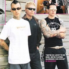 Travis Barker, Dexter Holland, M. Shadows