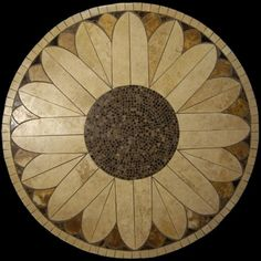 Sheraton mosaic stone tile table top, for outdoors or indoor use.