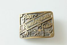 Vintage Remington Belt Buckle First In the by foundundertheeaves