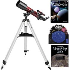 Get youngsters and the whole family outside for astronomical adventures in your own backyard with a great starter telescope and value-packed accessory kit - the Orion StarBlast 70 Altazimuth Travel Refractor Telescope Kit!